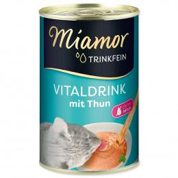 Papildbarība kaķiem - Miamor Trinkfein Vitaldrink, ar tunci, 135 ml