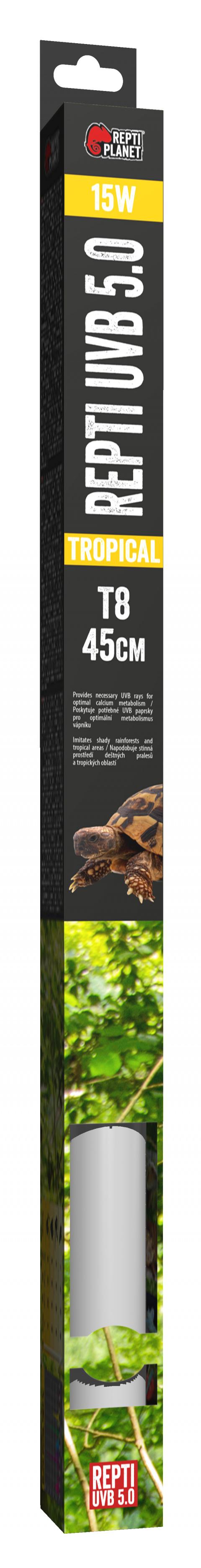 Лампа для террариумов - ReptiPlanet Repti T8 UVB 5.0 15W, 45 см title=