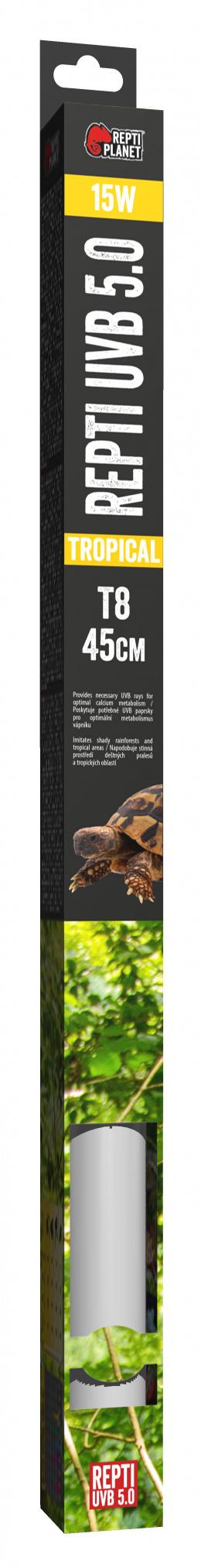 Spuldze terārija lampai - ReptiPlanet Repti T8 UVB 5.0 15W, 45 cm
