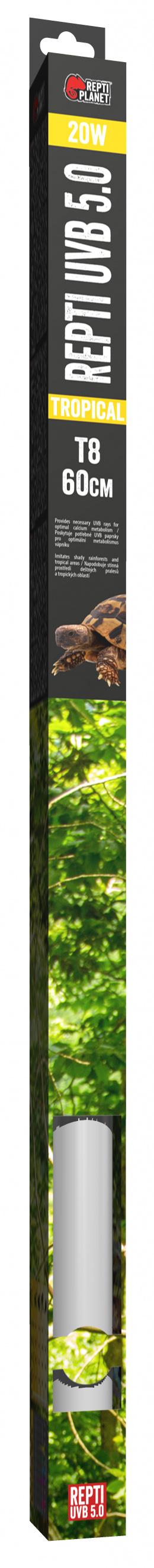 Spuldze terārija lampai - ReptiPlanet Repti T8 UVB 5.0 20W, 60 cm