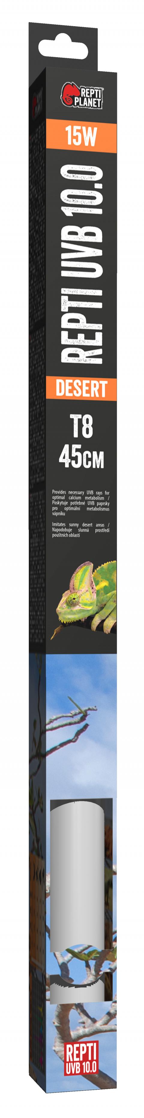 Лампа для террариумов - ReptiPlanet Repti T8 UVB 10.0 15W, 45 см title=