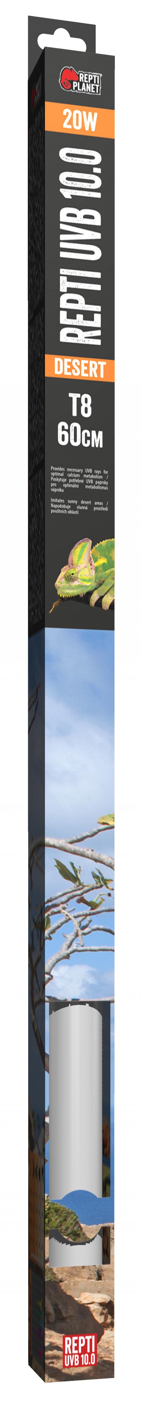 Spuldze terārija lampai - ReptiPlanet Repti T8 UVB 10.0 20W, 60 cm title=