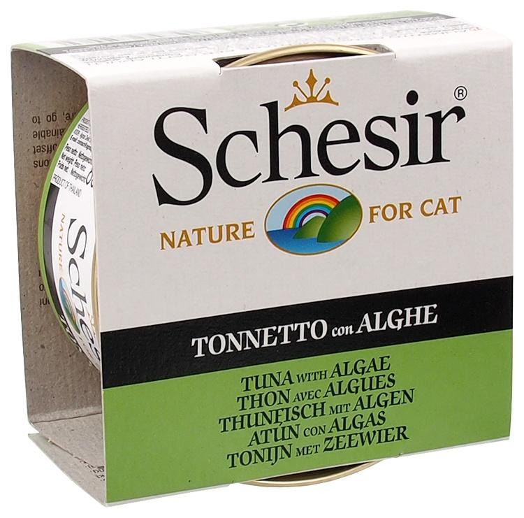 Консервы для кошек - SCHESIR Cat, с тунцом и водорослями, 85 г