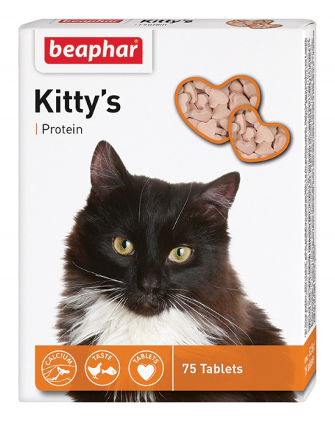 Витамины для кошек - Kitty's Protein, 75 таб.  title=