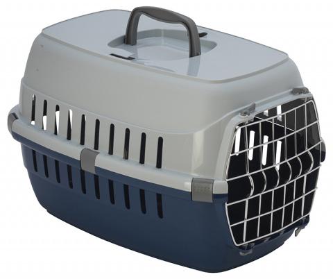 Transportēšanas bokss – Dog Fantasy Carrier, Blue, 48,5 x 32,3 x 30,1 cm title=