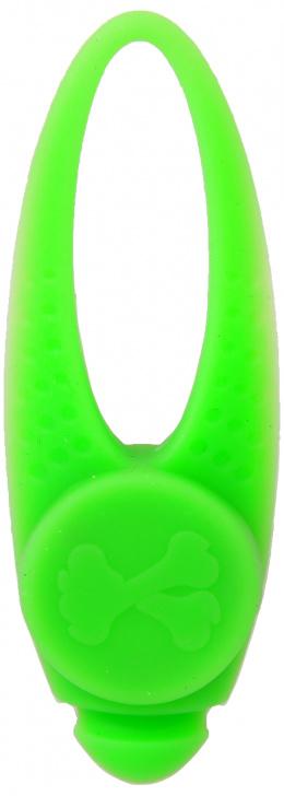 Atstarojošs piekariņš suņiem - Dog Fantasy Blinker LED silikon, green, 8 cm