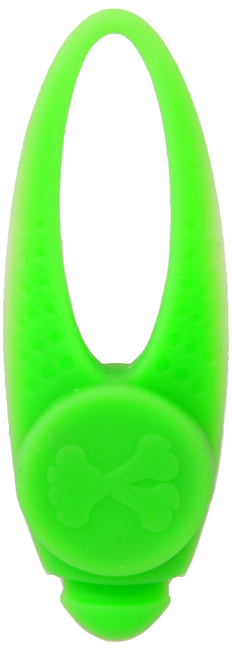 Отражатель для собак - Dog Fantasy Blinker LED silicone, green, 8 см