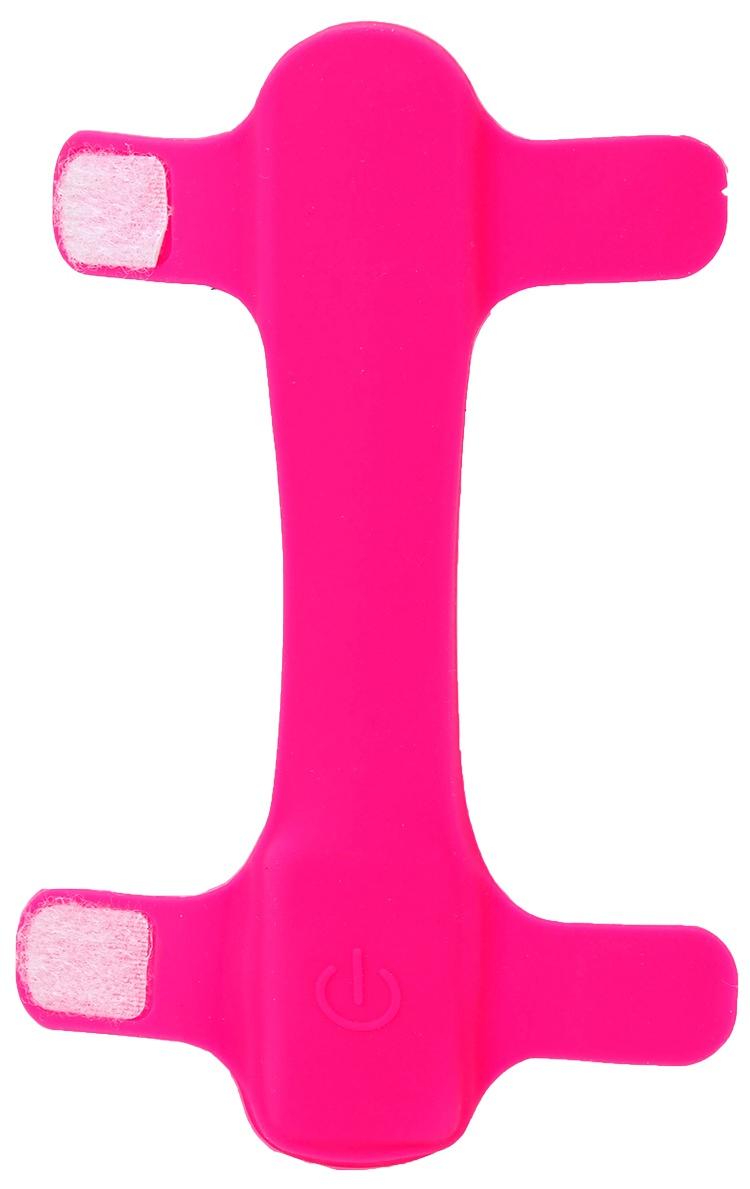 Atstarojošā kakla siksna - Dog Fantasy Collar Cover LED, light pink, 15 cm