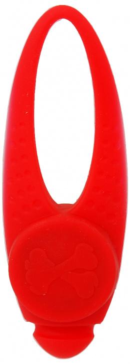 Отражатель для собак - Dog Fantasy Blinker LED silicone, red, 8 см