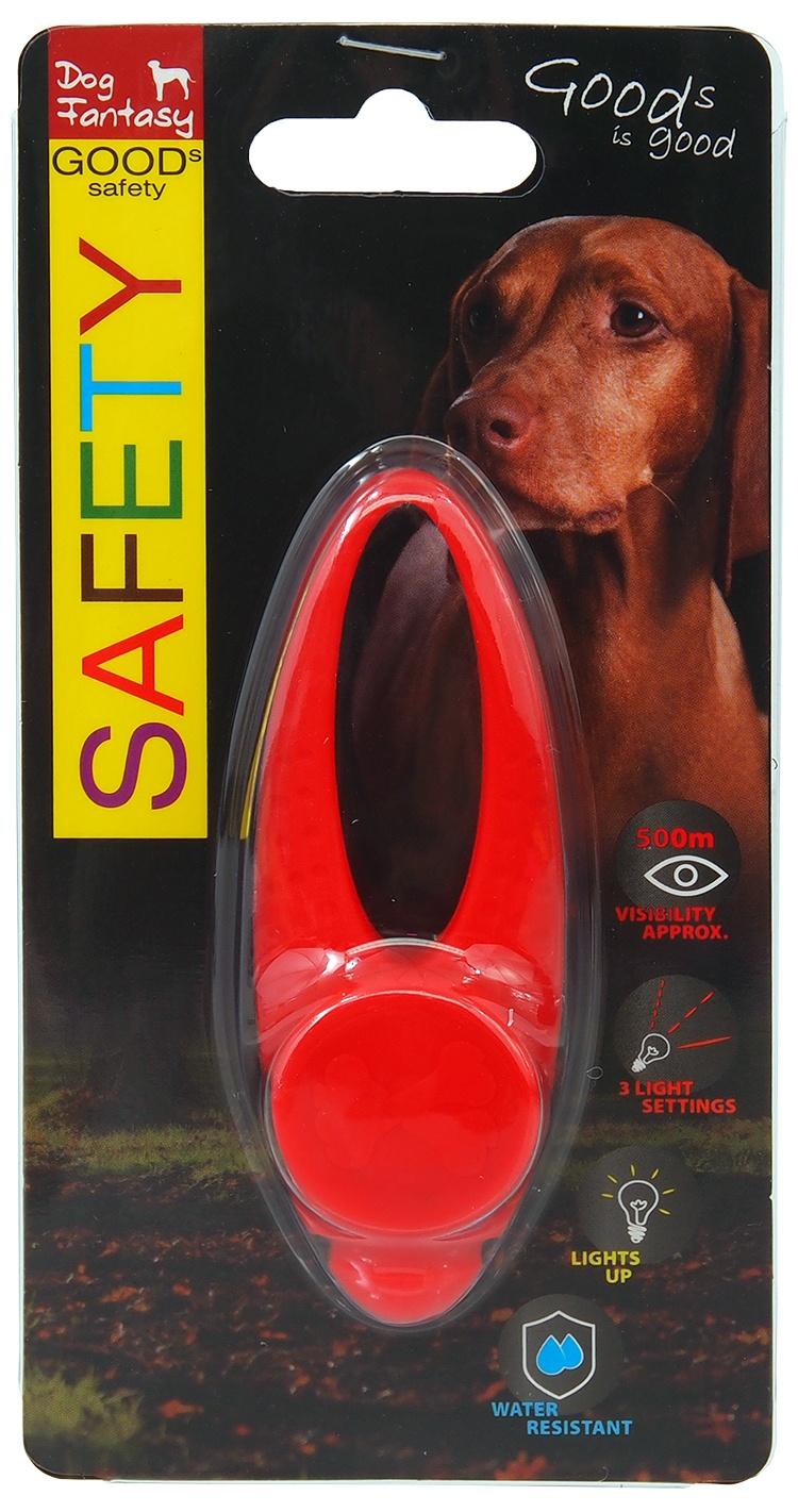 Atstarojošs piekariņš suņiem – Dog Fantasy Blinker LED Silicone, Red, 8 cm