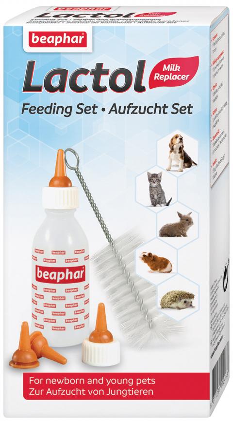Barošanas komplekts dzīvnieku mazuļiem - Beaphar Lactol title=