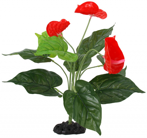 Декор для террариума - ReptiPlanet Anthurium flower, 40 см