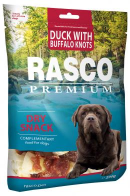 Gardums suņiem - Rasco Premium Duck With Buffalo Knots, 230 g