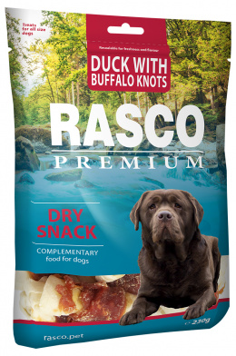 Лакомство для собак - Rasco Premium Duck With Buffalo Knots, 230 г