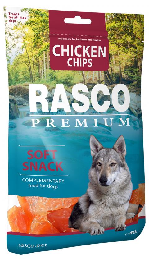 Лакомство для собак - Rasco Premium Chicken Chips, 80г