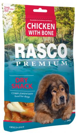 Gardums suņiem - Rasco Premium Chicken With Bone, 80 g