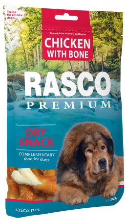 Gardums suņiem - Rasco Premium Chicken With Bone, 80g