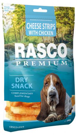 Gardums suņiem - Rasco Premium Cheese Strips With Chicken, 80g
