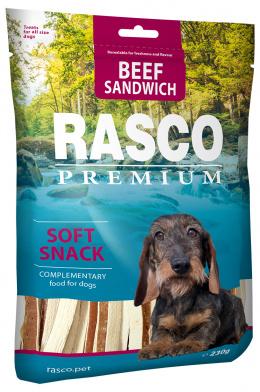 Лакомство для собак - Rasco Premium Beef Sandwich, 230 г