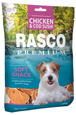 Gardums suņiem - Rasco Premium Chicken & Cod Sushi, 230g