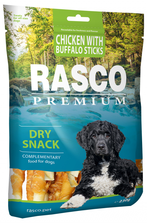 Gardums suņiem - Rasco Premium Chicken With Buffalo Stick, 230g