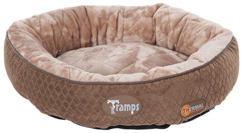Guļvieta kaķiem - Scruffs TRAMPS Thermal Ring Cat Bed, Chocolate, 50 cm