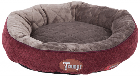 Guļvieta kaķiem - Scruffs TRAMPS Thermal Ring Cat Bed, Burgundy, 50 cm