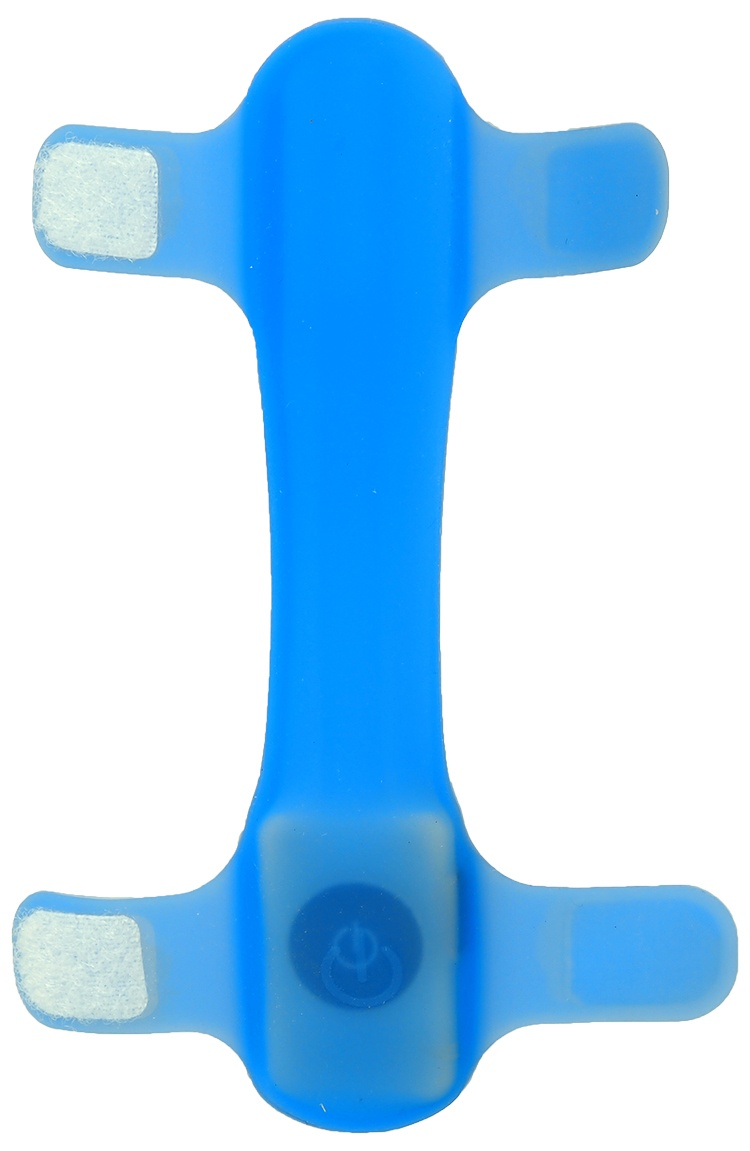 Atstarojošā kakla siksna - Dog Fantasy Collar Cover LED, light blue, 15 cm