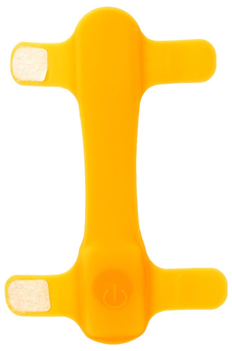 Atstarojošā kakla siksna - Dog Fantasy Collar Cover LED, light orange, 15 cm