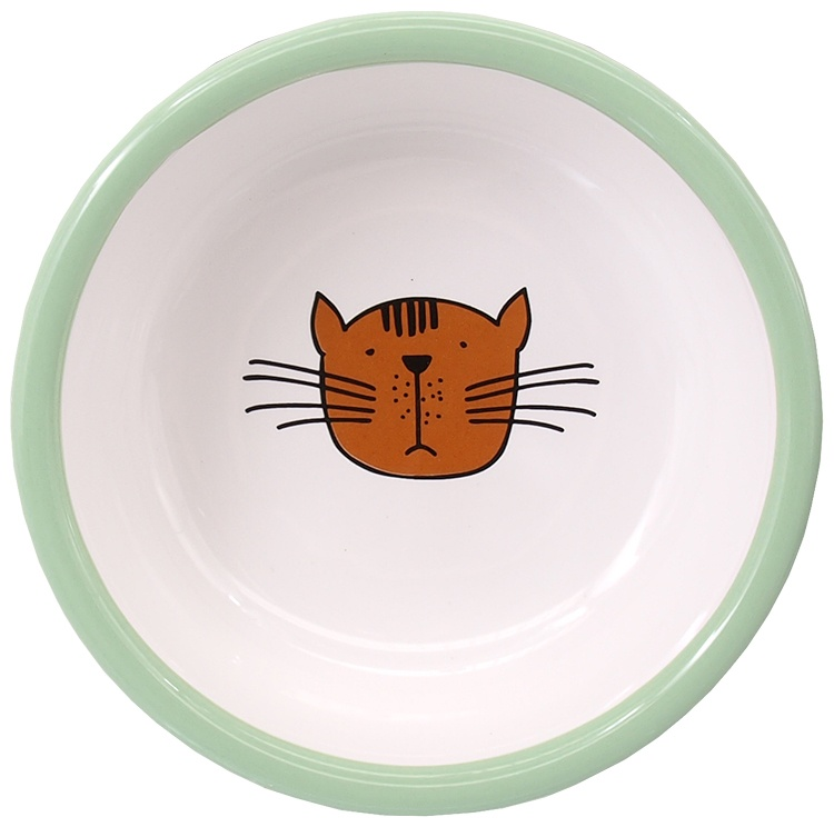 Bļoda kaķiem - MAGIC CAT, Ceramic Bowl with Paws, green, 13 cm