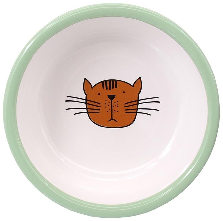 Миска для кошек - MAGIC CAT, Ceramic Bowl with Paws, green, 13 см