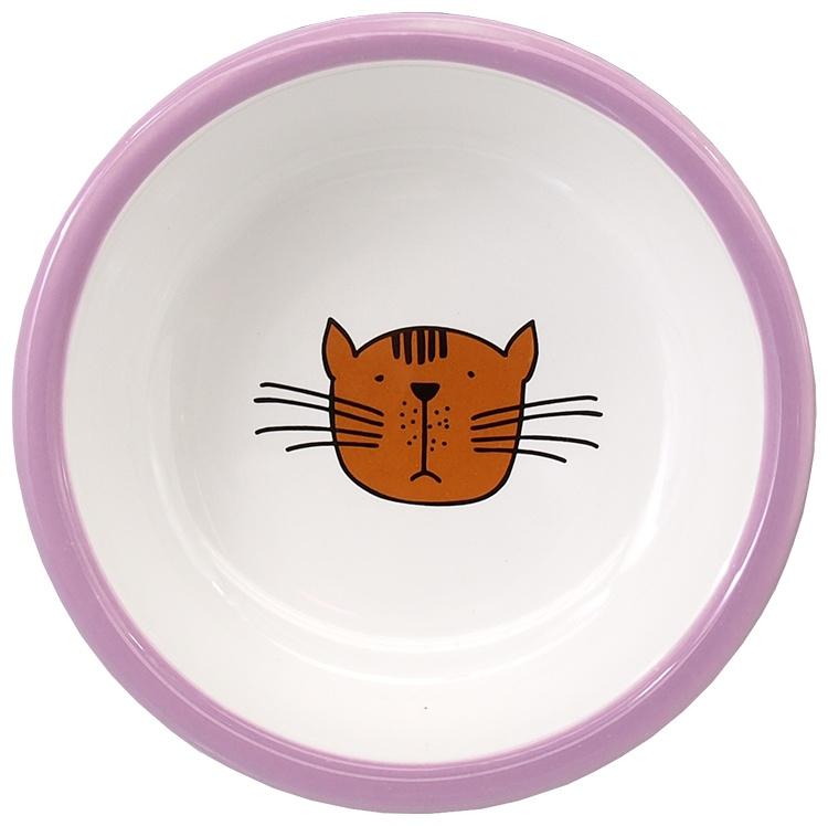 Bļoda kaķiem - MAGIC CAT, Ceramic Bowl with Paws, purple, 13 cm