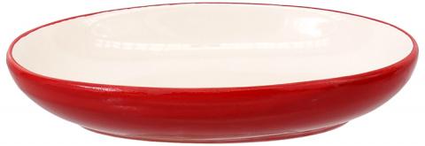 Bļoda kaķiem - MAGIC CAT, Ceramic Bowl, oval, red with fish, 13cm