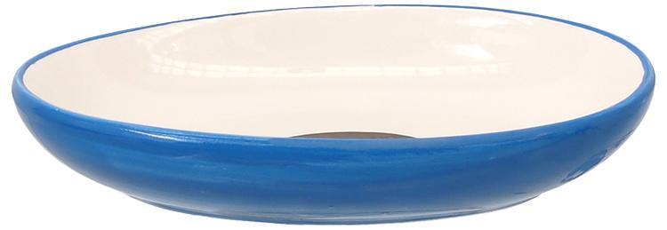 Bļoda kaķiem – MAGIC CAT, Ceramic Bowl, Oval, Blue with Fish, 13 cm