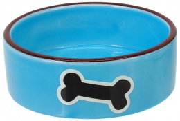 Миска - DOG FANTASY, blue with bone 12,5 см