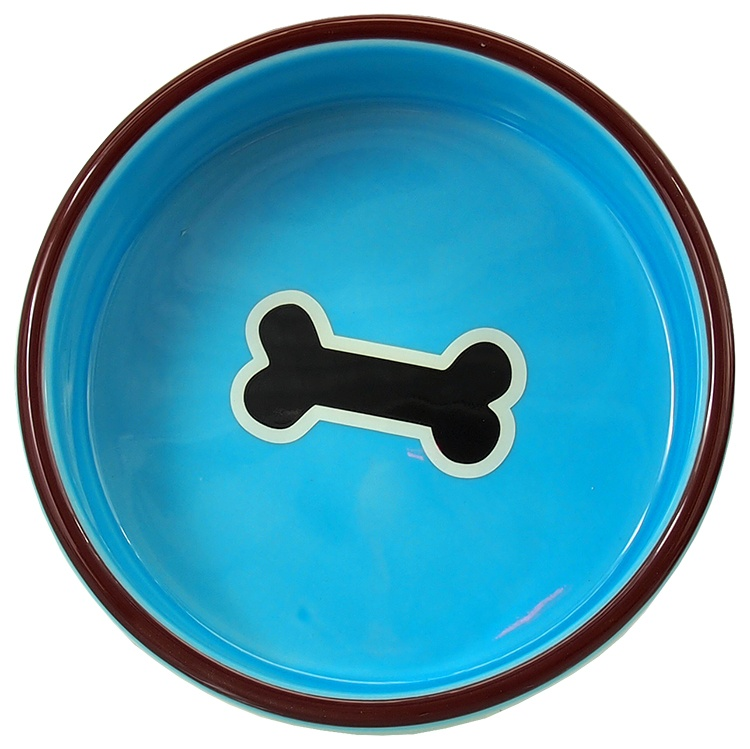 Миска - DOG FANTASY blue with bone, 12.5 см