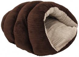 Спасльное место - Dog Fantasy Comfy 2, размеры - 55*43*25 cм, dark brown
