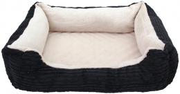 Спальное место для животных - DogFantasy Orthopedic, 68x55x15 cm, black