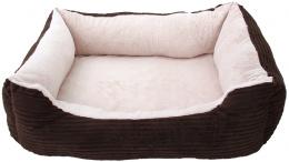 Спальное место для животных - DogFantasy Orthopedic, 68x55x15 cm, chocolate