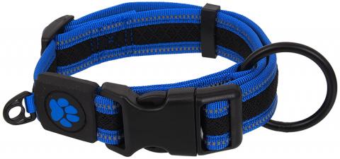 Ошейник для собак - Active Dog Collar Fluffy M, 2,5x33-48 см, синий title=
