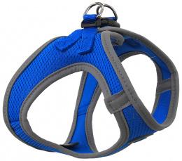 Krūšu siksna suņiem - Dog Fantasy, ar atstarojošiem elementiem, XS (32-36cm), zila