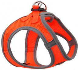 Шлейка для собак - Dog Fantasy, с отражающими элементами, М (41-46см) оранжевая