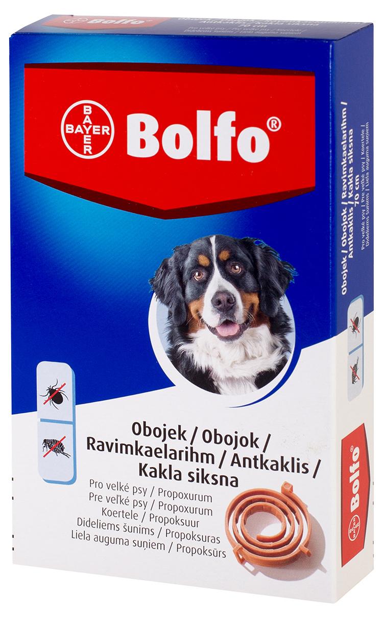 Ошейник против блох, клещей для собак крупных пород – Bolfo 66–70 см, безрецептурный препарат, reģ. NR. VA - 072463/3