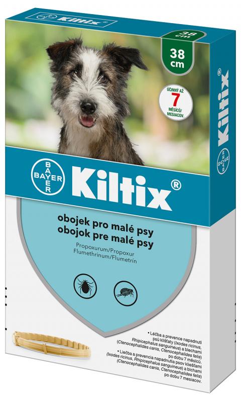 Līdzeklis pret blusām, ērcēm suņiem - siksna Kiltix S, 38 cm, bezrecepšu vet.zāles reģ. NR - VA - 072463/3  title=