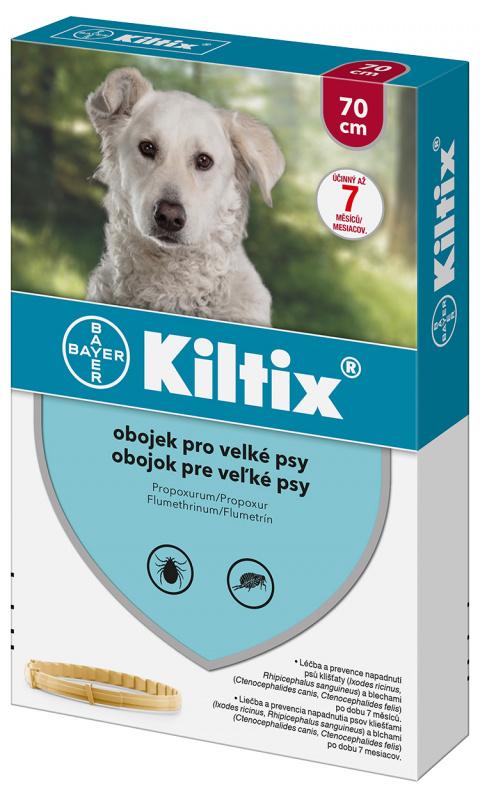 Līdzeklis pret blusām, ērcēm suņiem - siksna Kiltix L, 70 cm, bezrecepšu vet.zāles reģ. NR - VA - 072463/3
