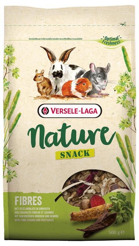 Papildbarība grauzējiem – Versele-Laga Nature Snack Fibres, 0,5 kg title=