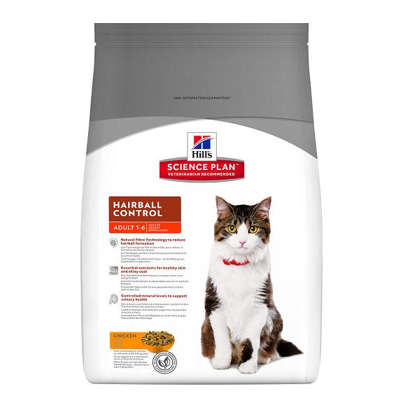 Barība kaķiem - Hills Feline Hairball Control, 5 kg