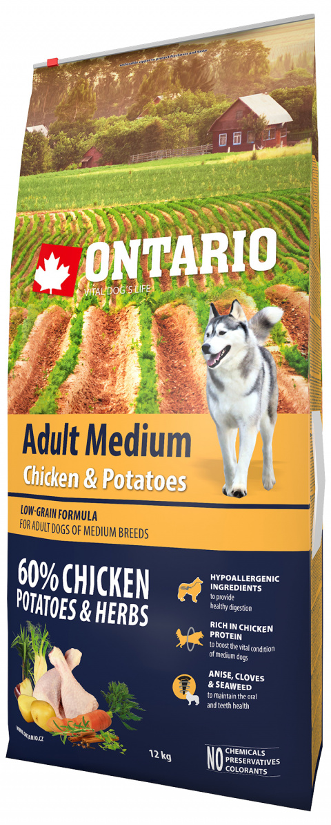 Ontario Adult Medium Chicken & Potatoes 12kg