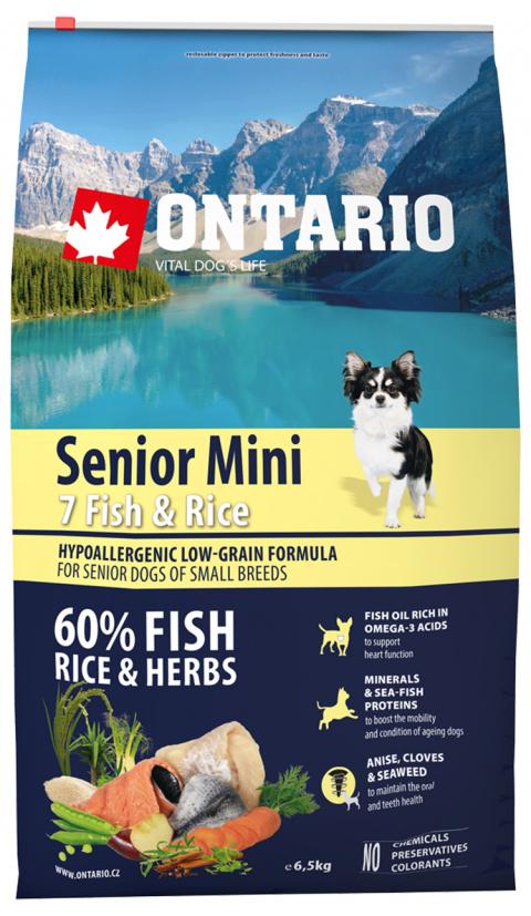 Ontario Senior Mini Fish & Rice 6.5kg