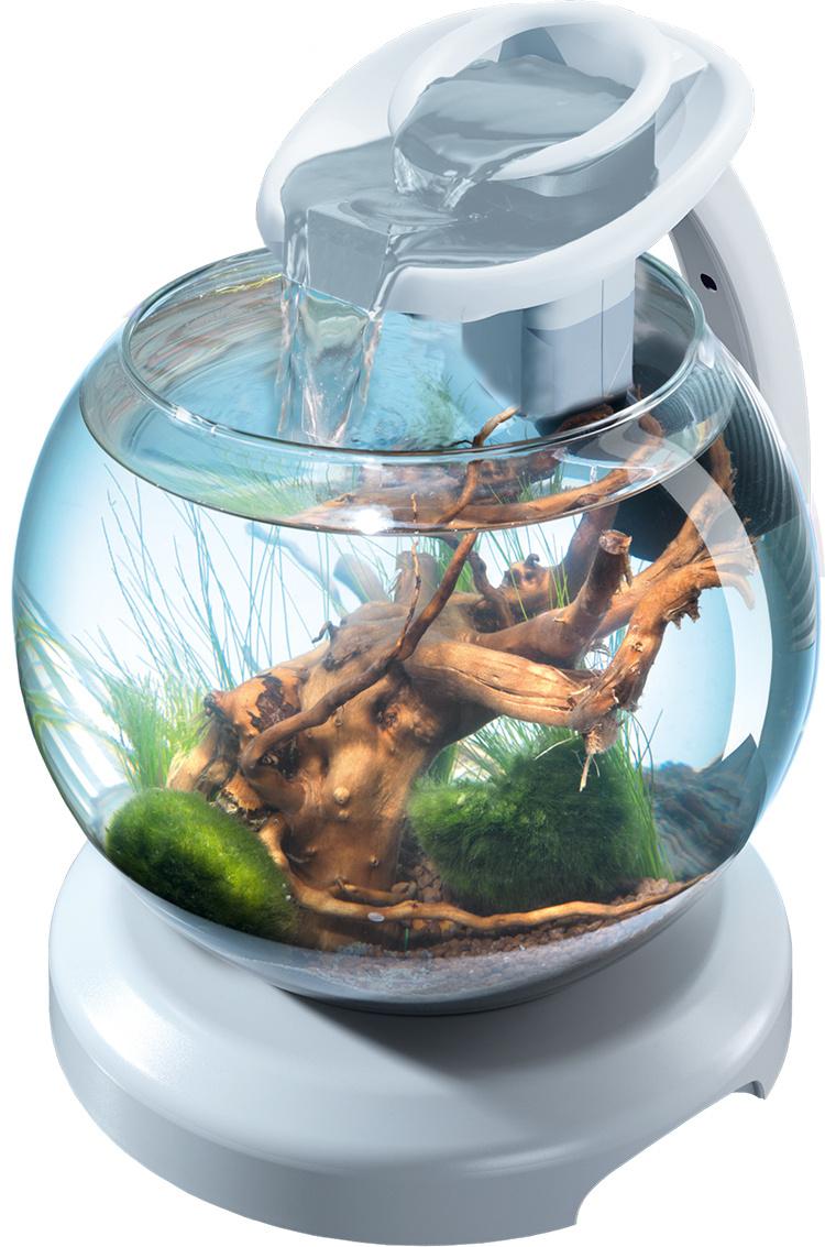 Akvārijs - Tetra Cascade Globe Duo Waterfall white, 6.8 litri